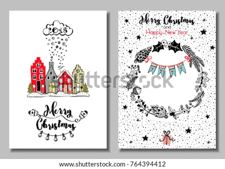 two sided christmas card new