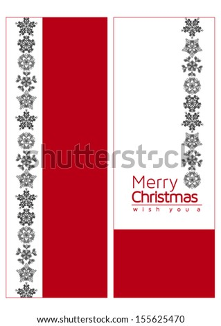 two sided simple christmas card