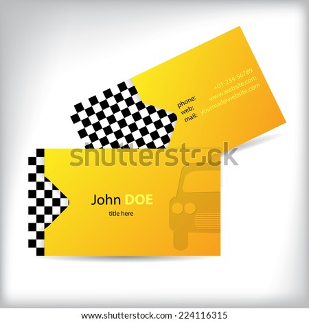 two sided taxi business card