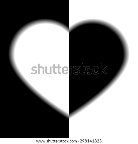 two sides of love   black and