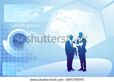 two silhouette businessman