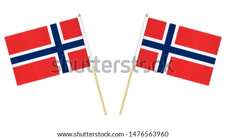 two small norwegian flags