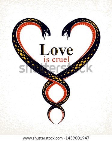 two snakes in a shape of heart