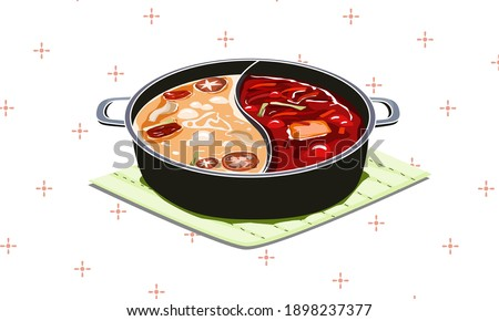 two soup in one pot  hotpot