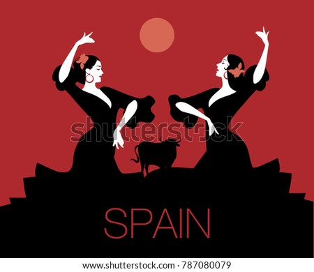 two spanish flamenco dancers