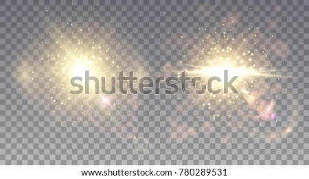 two sparkling star explosions