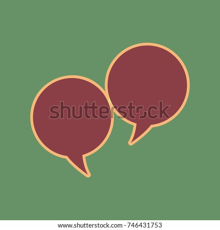 two speech bubble sign vector
