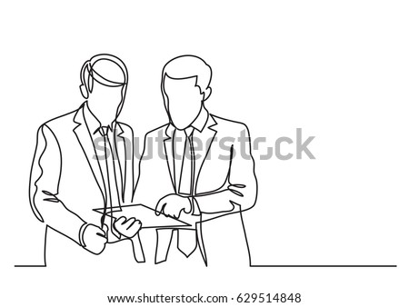 two standing businessmen