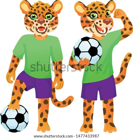 two standing jaguars as the