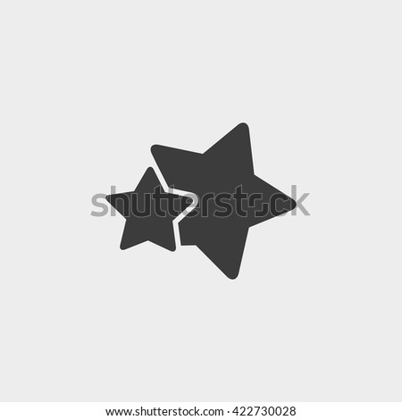 two  stars icons in black color