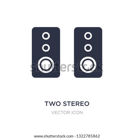 two stereo speakers icon on white background. Simple element illustration from Hardware concept. two stereo speakers sign icon symbol design.