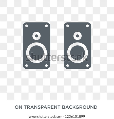 Two Stereo Speakers icon. Trendy flat vector Two Stereo Speakers icon on transparent background from hardware collection.