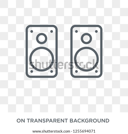 Two Stereo Speakers icon. Trendy flat vector Two Stereo Speakers icon on transparent background from hardware collection. High quality filled Two Stereo Speakers symbol use for web and mobile