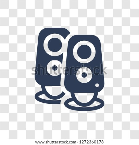 Two Stereo Speakers icon. Trendy Two Stereo Speakers logo concept on transparent background from hardware collection