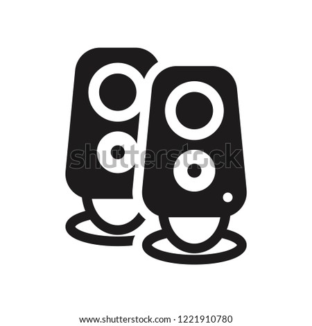 Two Stereo Speakers icon. Trendy Two Stereo Speakers logo concept on white background from hardware collection. Suitable for use on web apps, mobile apps and print media.