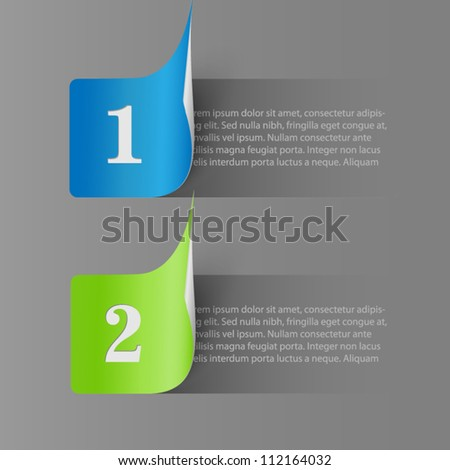 Two stickers - options - stock vector