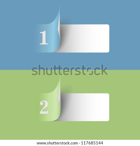 Two stickers with numbers - options