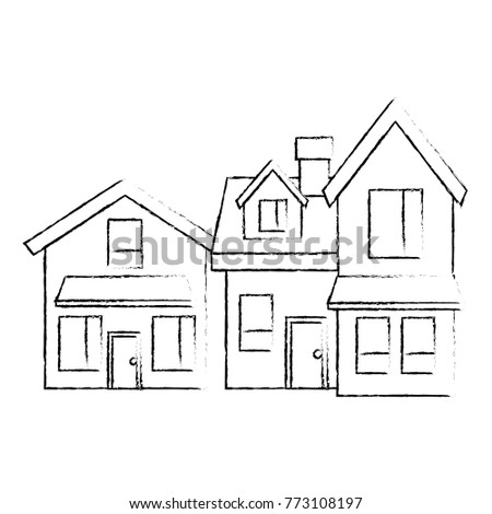 two storey houses with chimney architecture residential