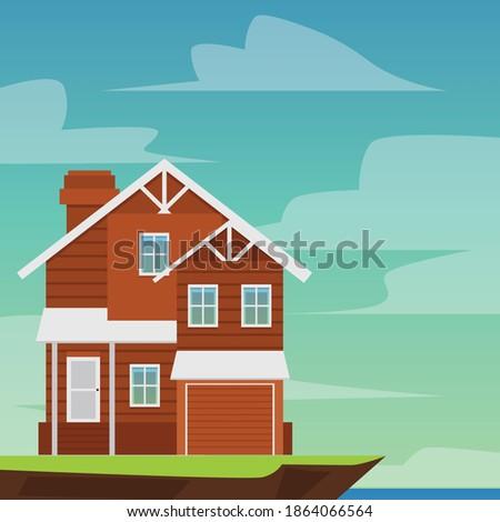 two storey suburban cottage on
