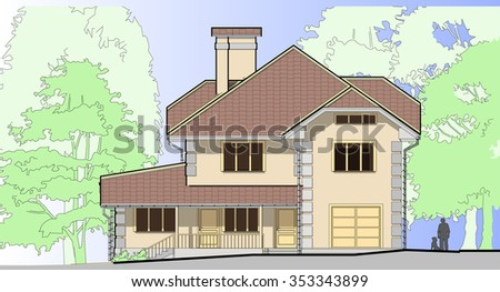 two story house cottage