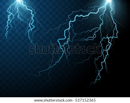 two streaks of lightning