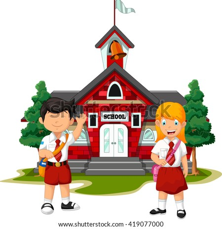 two student with school