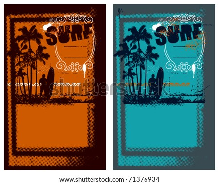 two surf poster with summer