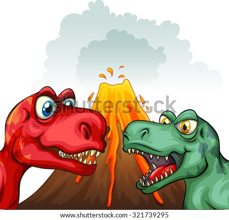 two t rex fighting each other