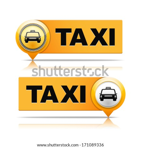 two taxi banners  vector eps10