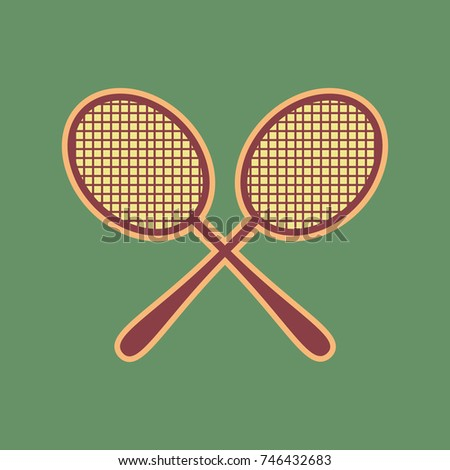 two tennis racket sign vector