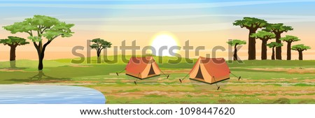 two tents for rest and tourism