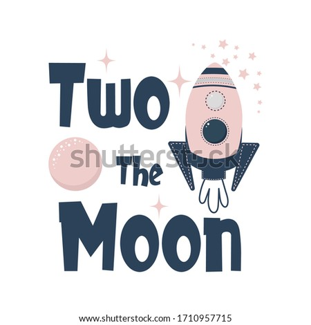 two the moon vector