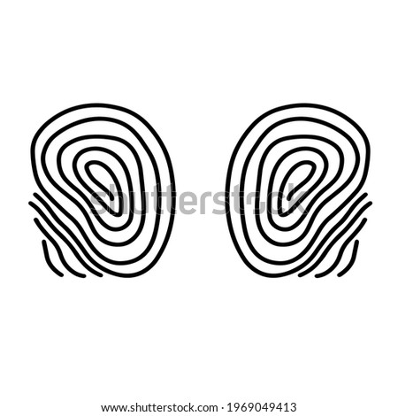 two thumb fingerprints isolated