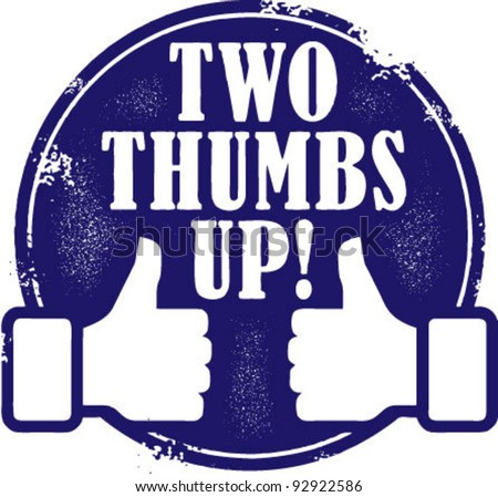 two thumbs up stamp