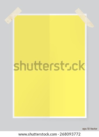 two times folded sheet  vector