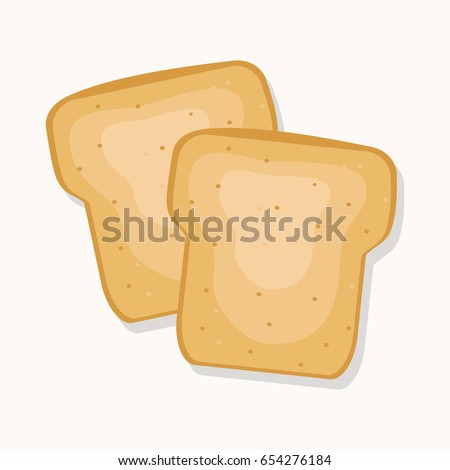 two toasts vector illustration