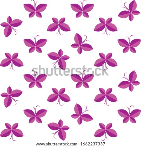 two tone butterfly pattern for