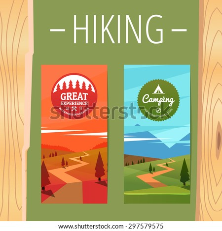 two tourism hiking vertical