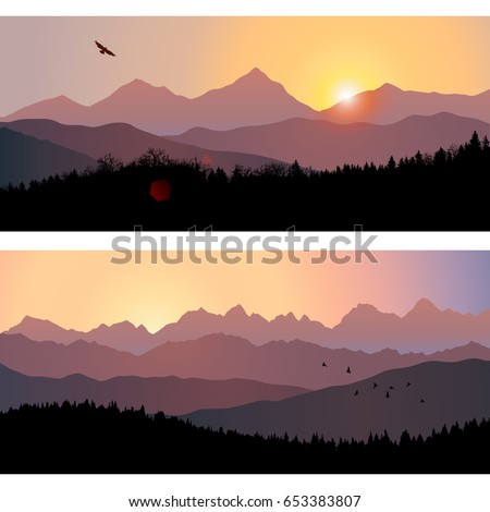 two travel landscapes with
