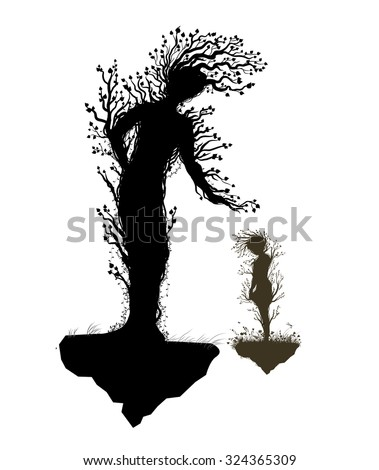 two tree silhouettes look like