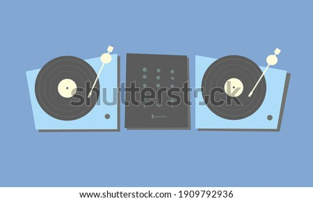 two turntables for djs with
