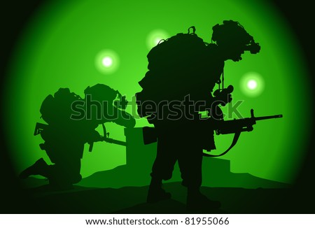 two us soldiers used night