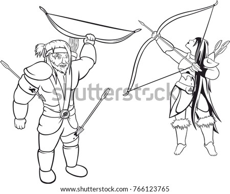 two vector archers black and