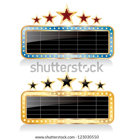 two vector black blank billboards