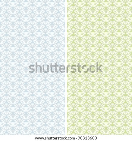 Two vector geometric seamless patterns