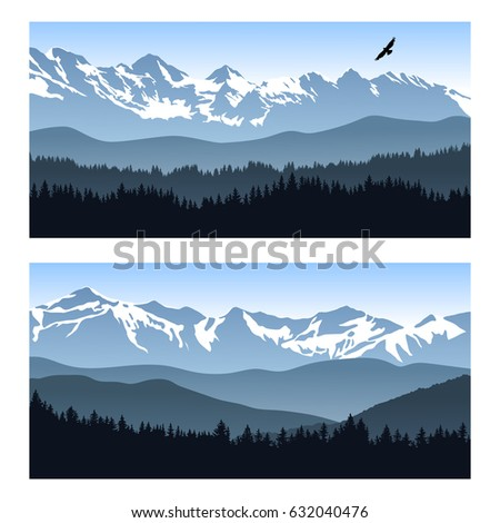 two vector landscapes with