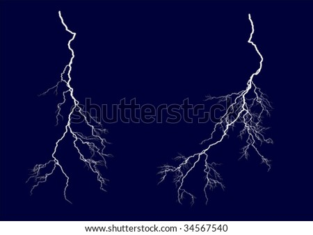 two vector lightning bolts