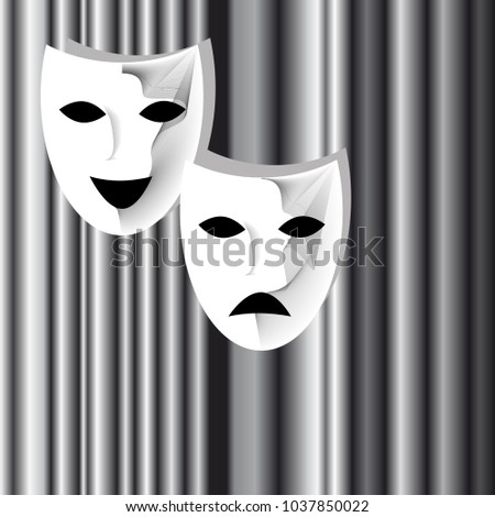 two vector white theatrical