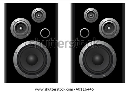 two vektor speaker systems on white background