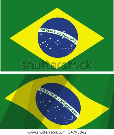 two versions of the flag of brazil